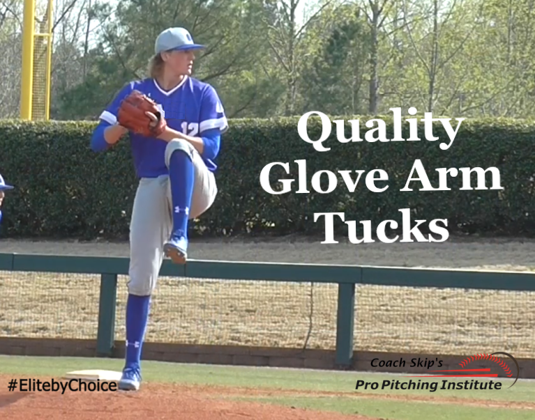 The timing of your glove arm tuck dictates whether you produce the pitch location and ball movement you need to keep your Team close enough to win the game.